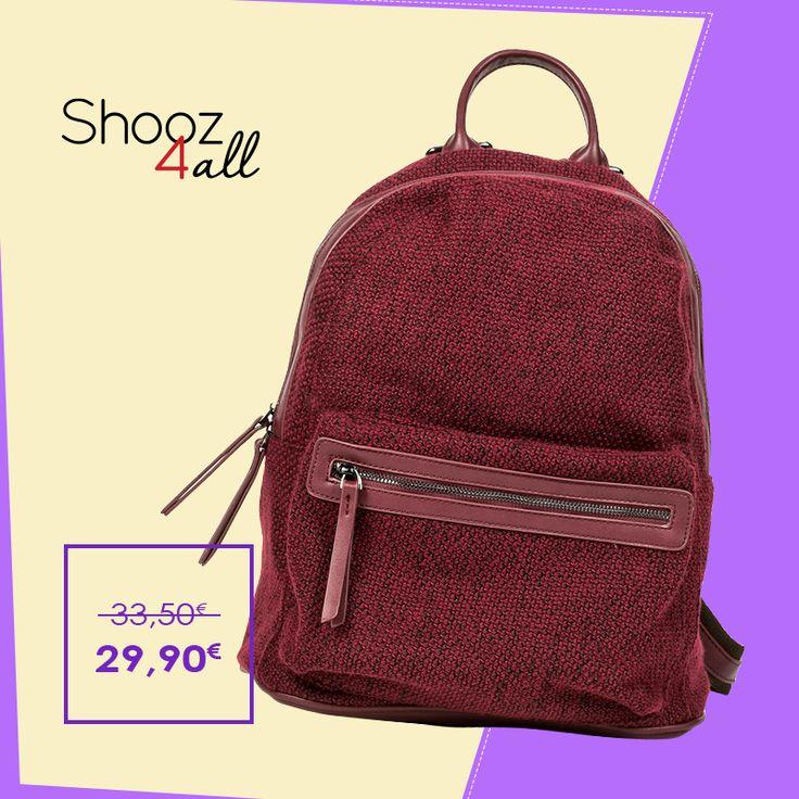 Μπορντώ σακίδιο πλάτης http://www.shooz4all.com/el/gynaikeies-tsantes/backpacks/mpornto-sakidio-platis-djm918-detail #shooz4all #backpack