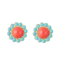 Coral/Turquoise Studs: Summer Color