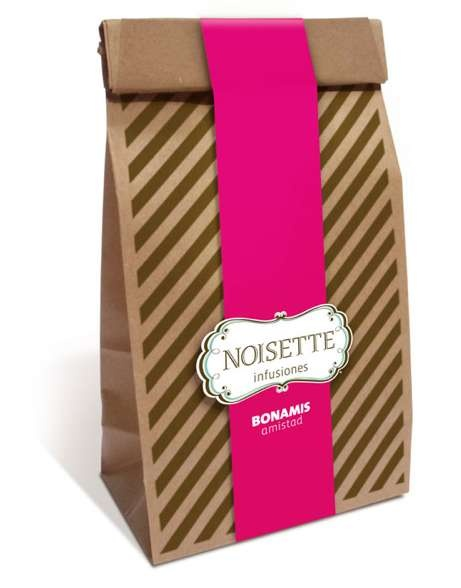 Candy Stripe Snack Packaging - Noisette Cafe Branding Channels a French Boulangerie (GALLERY)