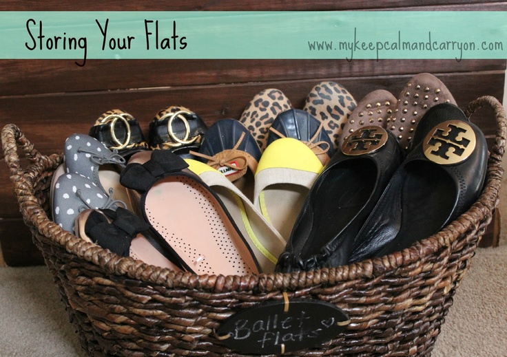 Cute and easy way to store your flats!! yes please why haven't i already done this
