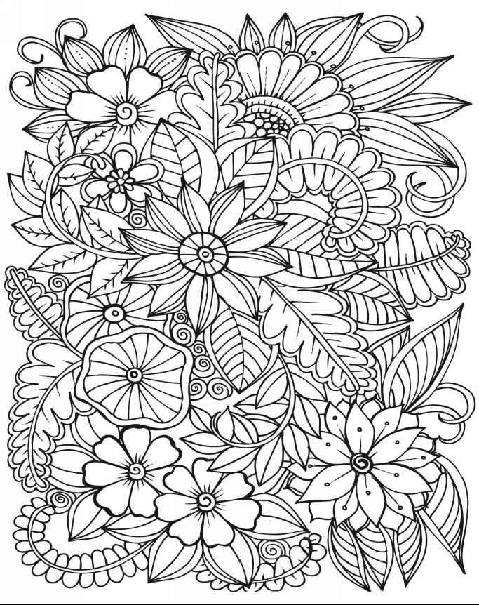 """iColor """"Flowers"""" --> If you're in the market for the best adult coloring books and supplies including colored pencils, watercolors, gel pens and drawing markers, logon to http://ColoringToolkit.com. Color... Relax... Chill."""