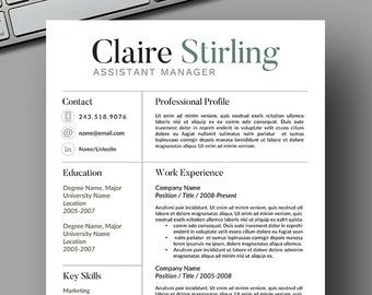 23 best cv images on pinterest resume sample resume and job resume template by resume foundry modern clean for a limited time use the yelopaper Image collections