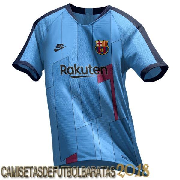 Camiseta Ea Sport Barcelona Azul 2018 2019 Baratas Camisetas Camisetas De Fútbol Camiseta Del Barcelona