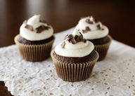 Nutty Irishman Cupcakes recipe - devil's food cake mix, Bailey's Irish Cream, vanilla. #cupcakes #irishdessert #chocolate