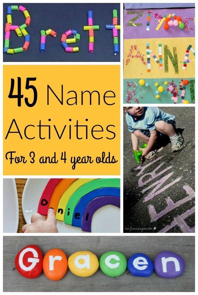 These are AWESOME name activities for preschoolers! Teaching name recognition and name letters is a great first step to learning letters of the alphabet for kids.