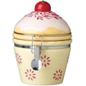 #8: Boston Warehouse Cupcake Hinged Jar.