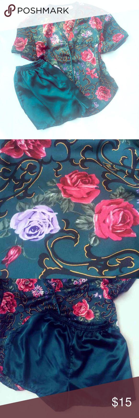Beautiful Silky Vintage Floral Sleepwear Set Beautiful Silky Vintage Floral Sleepwear Set Size Small. Elastic waist band. Intimates & Sleepwear Pajamas