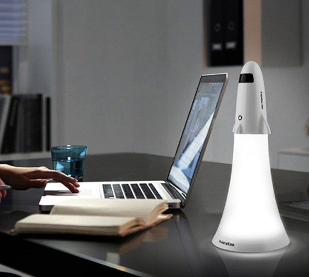 This Spaceship Rocket Desk Lamp Doubles as a Flashlight