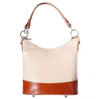 Beige Rigid Calf Leather Bucket Shoulder bag, handmade in Italy $63.45 http://number7bags.com/bags-limited.html