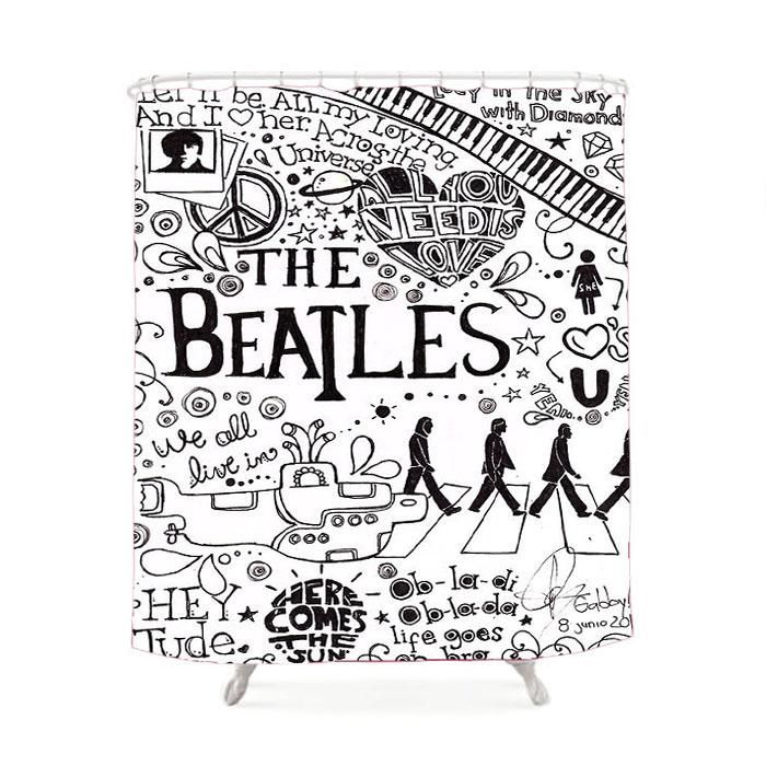 Personalized The Beatles Shower Curtain The Beatles Beatles Art
