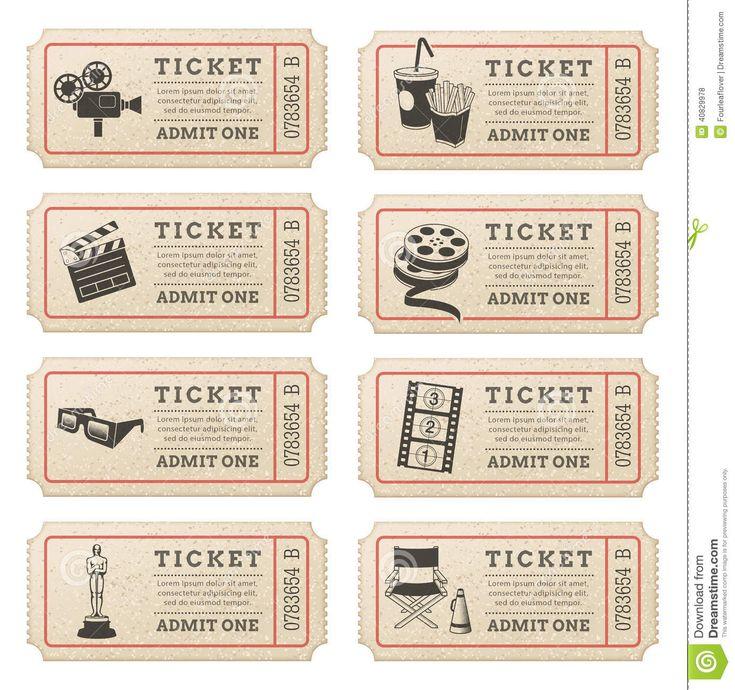 Royalty-free - Vector Cinema Tickets Stock Vector - Image: 40829978