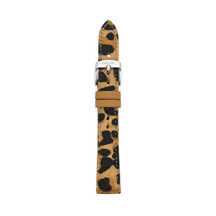 Fossil Leather 16mm Watch Strap - Cheetah S161003 | FOSSIL®