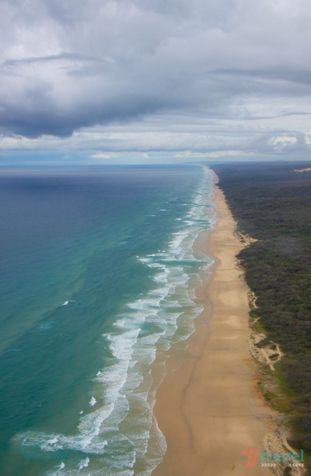 75 Mile Beach, Fraser Island, Australia - The World's largest sand island
