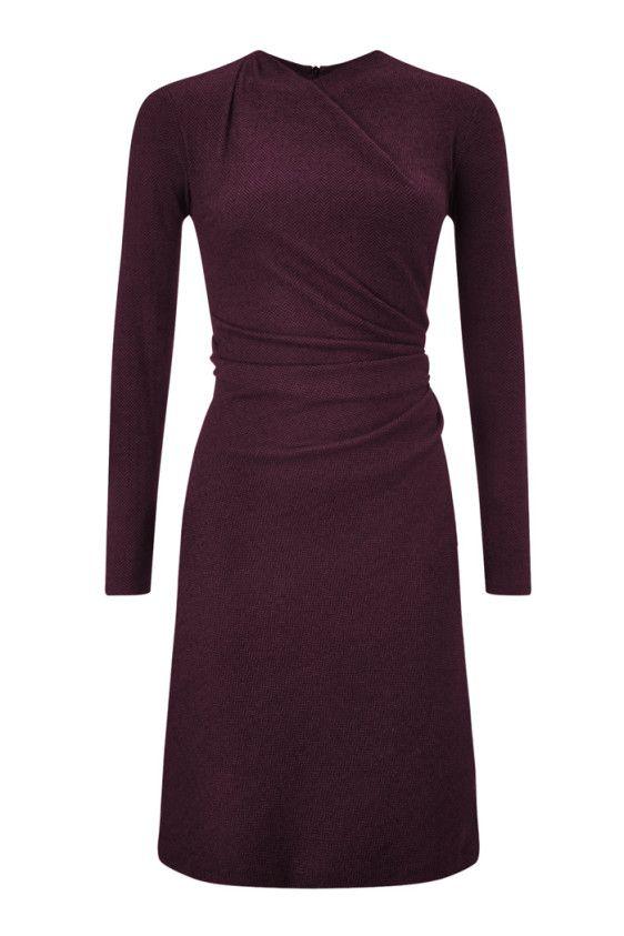 belgravia dress burgundy