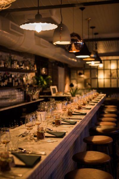 Cozy bar set up at Apartment 200 - elle cuisine events