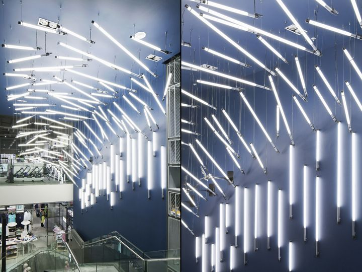 Breaking wave installation for john lewis by paul nulty lighting design york uk vm