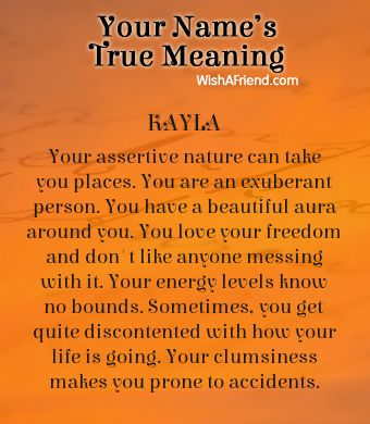 Name true meaning of Kayla