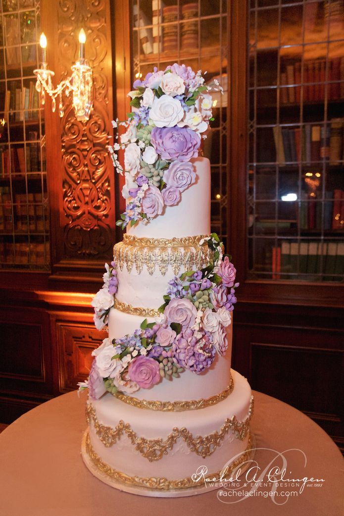 Purple Themed Wedding Cakes