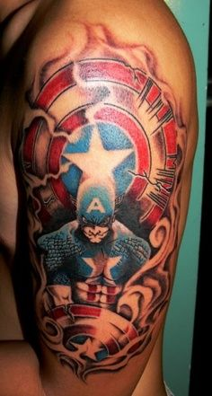 Captain America half-sleeve