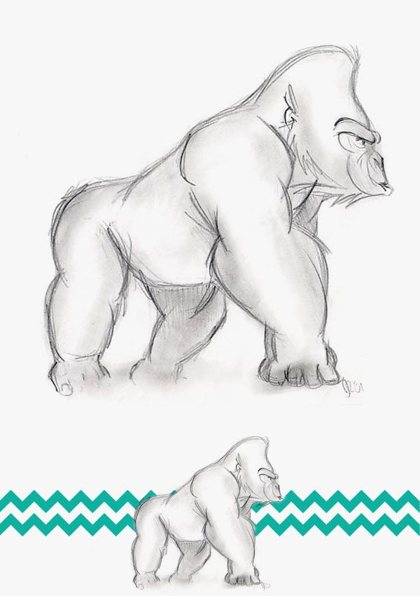 Gorilla kunst Etsy