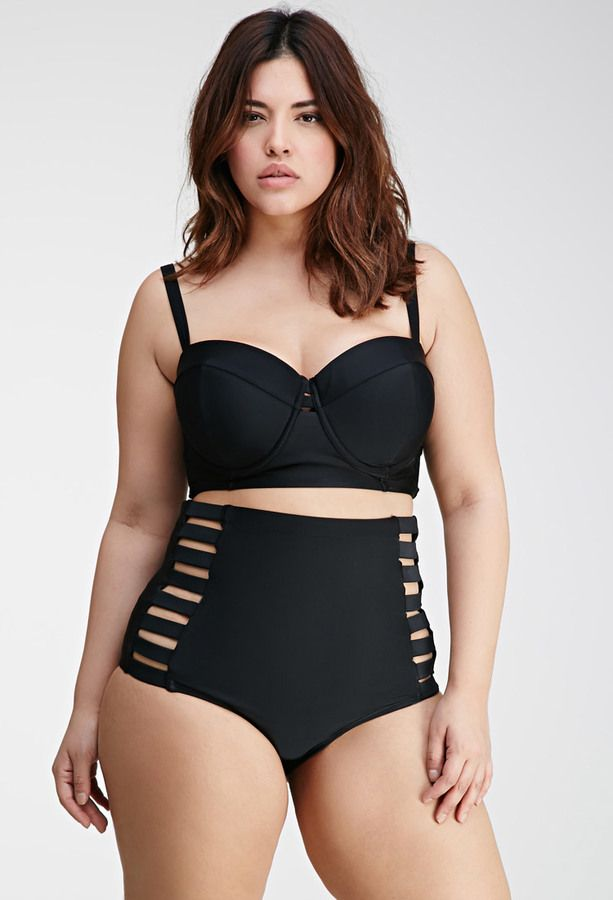 Plus Size FOREVER 21+ Caged High-Waisted Bikini