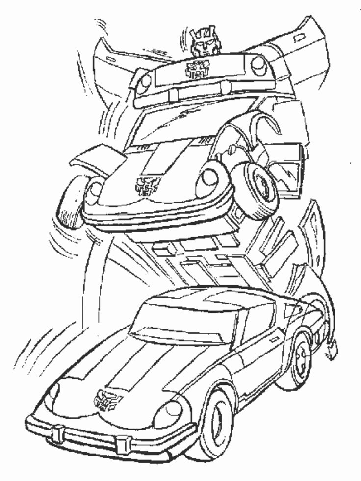 24 Bumblebee Transformer Coloring Page in 2020