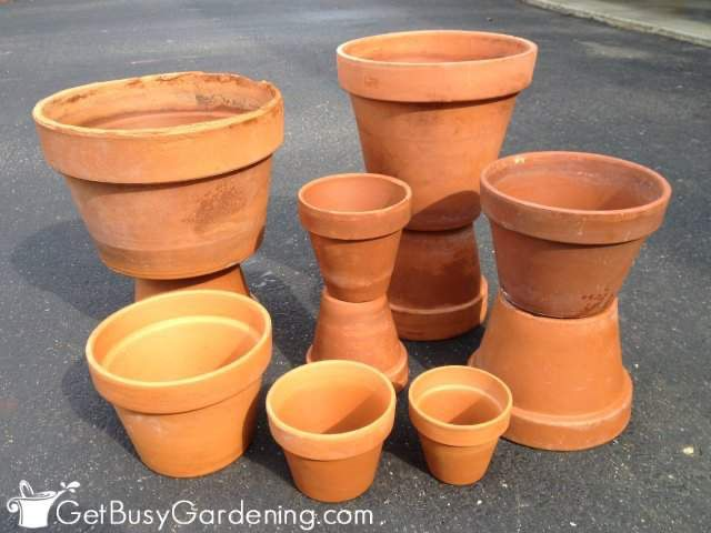 how to clean a clay flower pot