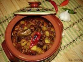 Chicken in a clay pot