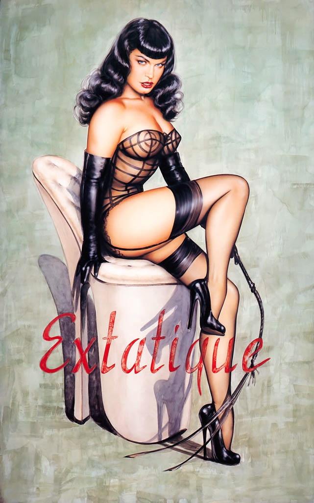 Betty Page | Pin-Up girl #Pin-Ups #Sexy #Girl #Vintage #USA #Retro #deFharo #Posters