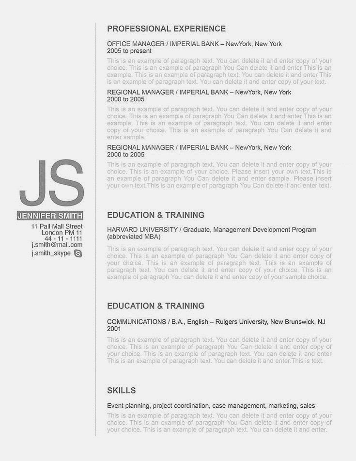 Elegant resume template 110540 Choose from over 100 professionally