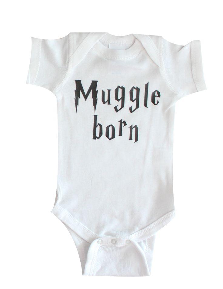 www.BabyApparels.etsy.com Muggle born baby onesie