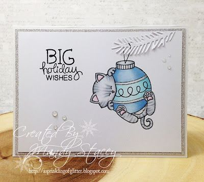 A Sprinkling of Glitter: Furry Friends - Simon Says Stamp DT | Ornamental Newton Stamp Set by Newton's Nook Designs #newtonsnook #handmade