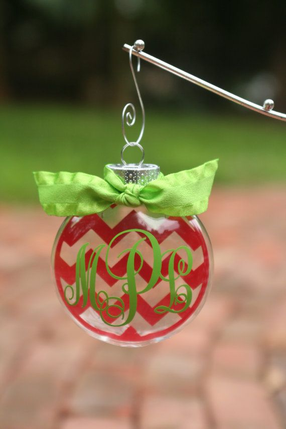 Monogrammed Floating Chevron Ornament by StickerDoodlesSC on Etsy, $8.00