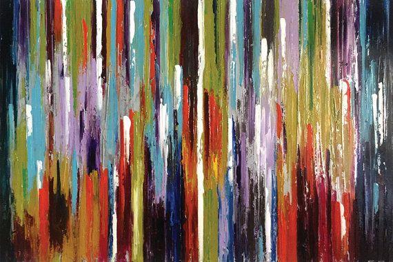 Storm of Color 72 x 48 Inches Original Abstract by acasaARTstudio