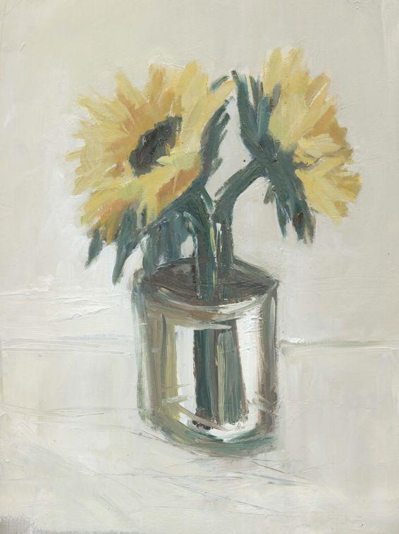 Junction Art Gallery - Harriet Eagle 'Two Sunflowers' www.junctionartgallery.co.uk/exhibitions/future