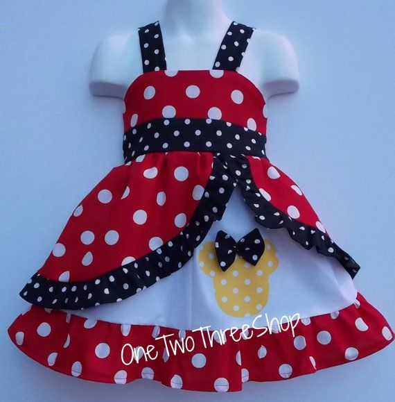 Minnie Med red  peekaboo Jumper Dress by amacim on Etsy, $39.99