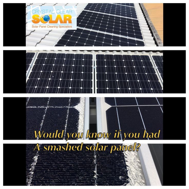 Regular cleaning and inspections are essential for solar system health!  Would you know if you had a smashed panel?  #solarcleaning #CrystalClearSolar #solarpower #greenenergy #solarpanelcleaning #solarmaintenance #solarenergy #solarpanelcleaners #commercialsolar #residential solar #brokensolar #smashedsolar