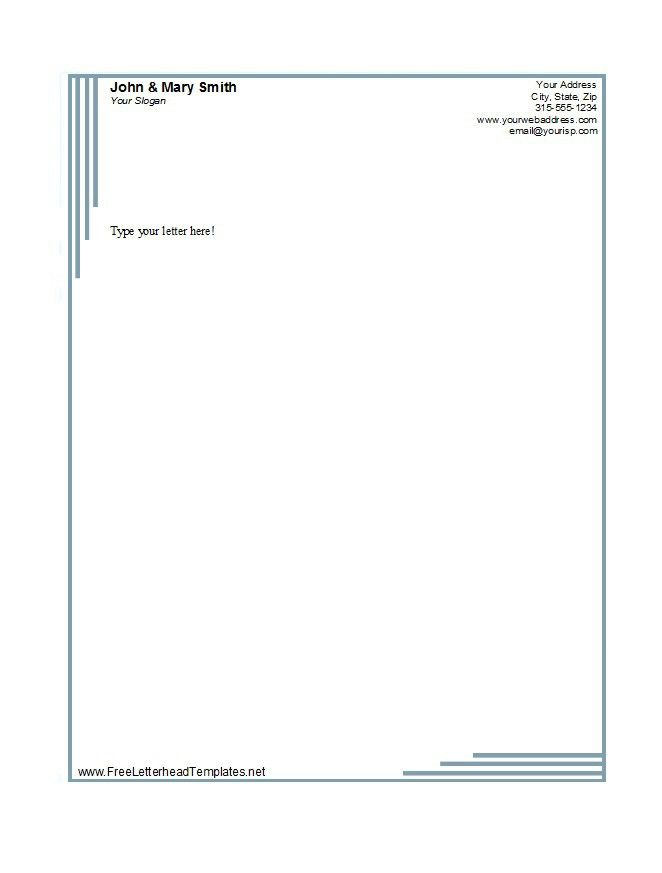 Free personal letterhead templates word download stationery paper letterhead template 02 spiritdancerdesigns Gallery