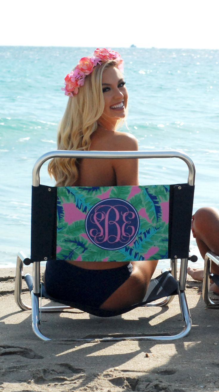 Catch some rays in this stylish seat!! Personalize your own beach chair!!