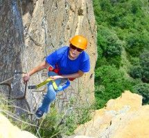 Via Ferrata near Johannesburg with Shelter Rock. Start early and climb the only Via Ferrata (Iron Way) in Africa to the summit of the Magaliesberg where you can enjoy a magnificent 360-degree view before hiking down to Shelter Rock base camp. After completing the Via Ferrata, you can double the excitement by abseiling down the Magaliesberg cliff face on our 100-meter double pitch abseil. #dirtyboots #johannesburg #viaferrata
