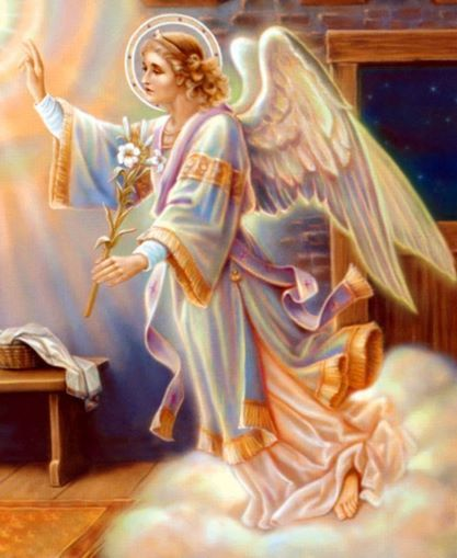 Beautiful. This is the Annunciation Angel that appeared to Mary. The pic came from www.catholictradition.org/