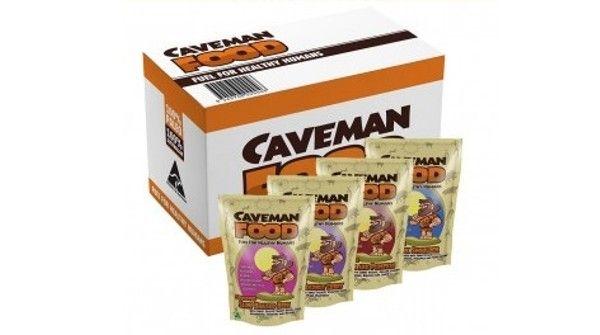 The Caveman Food Sampler. Stuck on which Caveman to order? We have a solution. Get the best of the Caveman Food Main Range all in one convenient box.  1 x Grass fed Slow Braised Beef  1 x Lamb Coconut Curry  1 x Free Range Chicken and Pumpkin  1 x Free Range BBQ Pork Shoulder