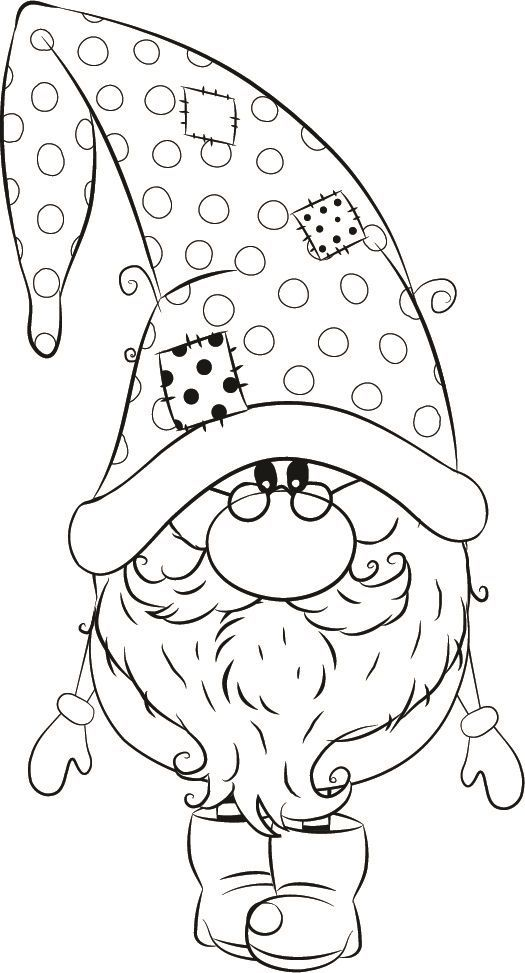 1255-04 Andre winter Gnome | Christmas coloring pages ...