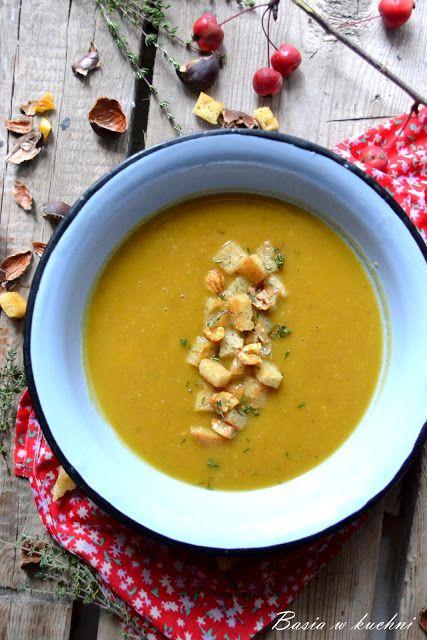 Basia w kuchni: Zupa dyniowa z kasztanami - przepis