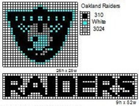 Raiders crochet pattern | Here is a pattern for the NFL logo, AFC logo, and NFC logo. I do not ...