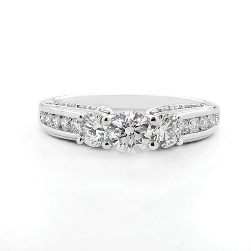 18ct Gold Diamond Trilogy Ring - Shop our jewellery store in Port Fairy - Victoria, Australia.