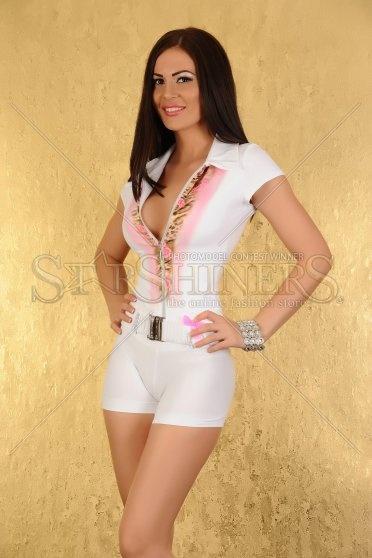 Salopeta MissQ Cute Doll White