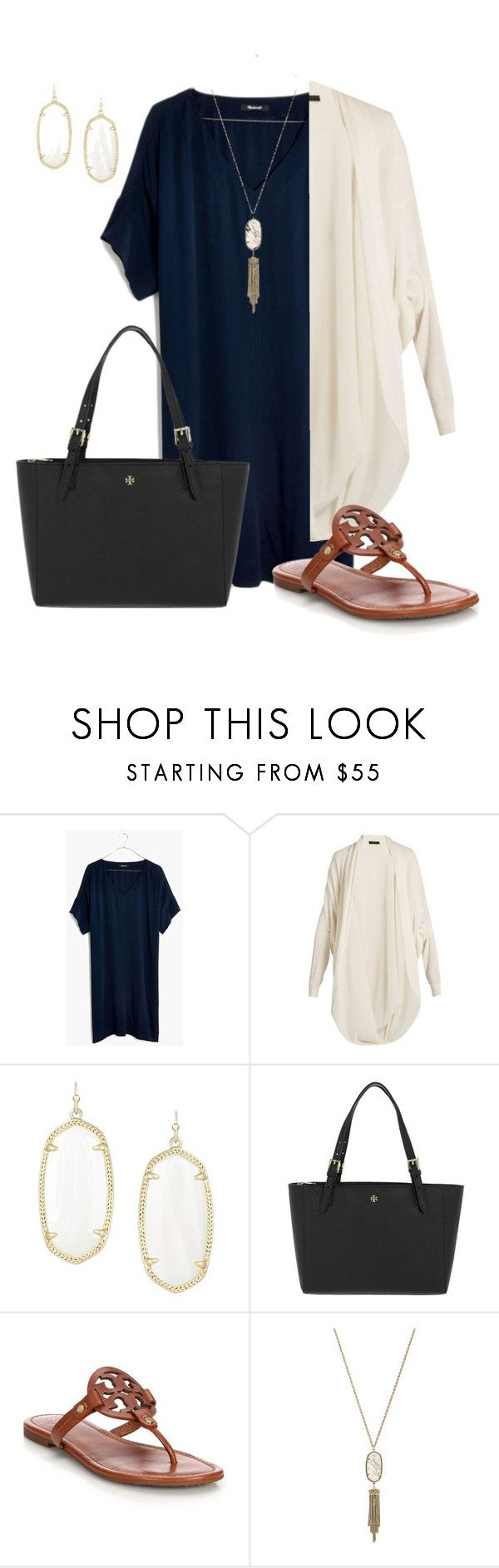 """""""Untitled #133"""" by soccerstreak on Polyvore featuring Madewell, The Row, Kendra Scott and Tory Burch"""