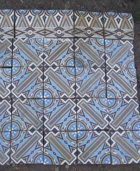 Antieke vloertegels model: Art-deco keramische motieftegels