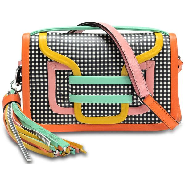 Pierre Hardy Alpha crossbody clutch ($1,053) ❤ liked on Polyvore featuring bags, handbags, clutches, multicoloured, multi color purse, multi coloured handbags, tri color handbags, multi colored purses and colorful purses